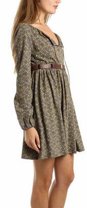 Sophomore Floral Print Belted Dress