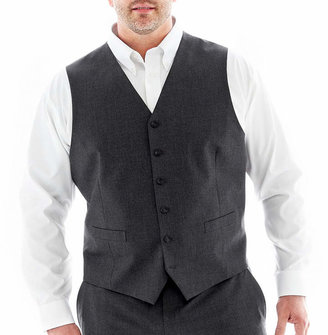 Jf J.Ferrar JF Stretch Gabardine Suit Vest-Big & Tall