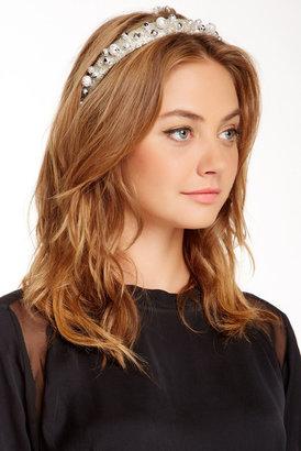 Eugenia Kim Iris Paint Splattered Pearl Cocktail Headband