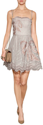 RED Valentino Organza Strapless Bow Dress