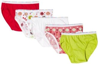 Hanes Big Girls' 5 Pack Classic Low Rise Brief