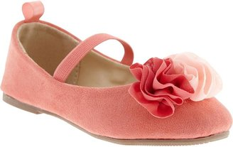 Old Navy Sueded Rosette Flats for Baby