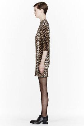 3.1 Phillip Lim Brown leopard print Rounded-Shoulder dress