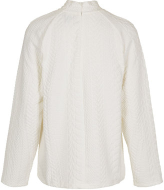 Topshop **Cable High Neck Sweat