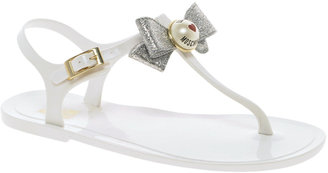 Love Moschino White Jelly Flat Sandals