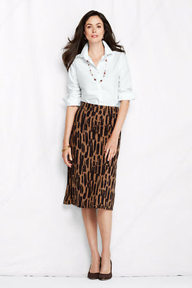 Lands' End Women's Regular Pattern Drapey Ponté A-line Skirt