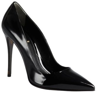 Fendi black patent leather pumps