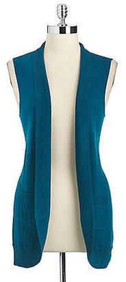 Lord & Taylor Sleeveless Wool Vest