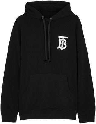 Burberry Black Hooded Cotton Sweatshirt