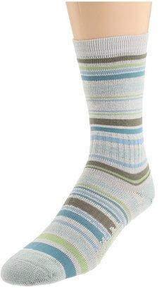 Bridgedale Stripes Crew 3-Pair Pack (Blue) - Footwear