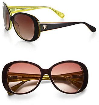Diane von Furstenberg Blaise Oversized Round Sunglasses