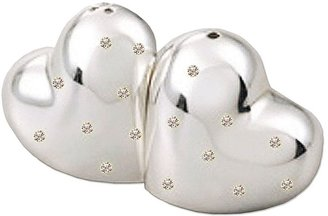 Natico mini heart salt & pepper shakers
