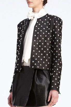 Diane von Furstenberg Kate Leather Jacket In Black