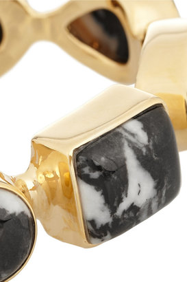 Isharya Gold-plated jasper cuff