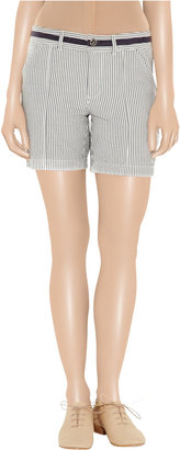 Juicy Couture Striped seersucker-cotton shorts