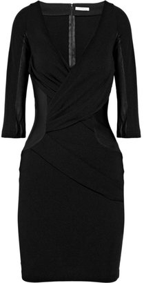 Faith Connexion Stretch-crepe and leather dress