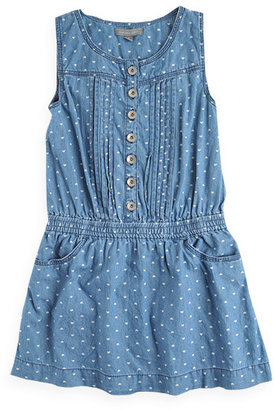 Pumpkin Patch All Over Heart Denim Dress
