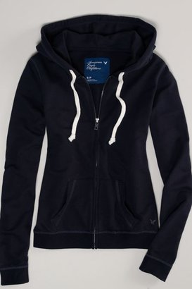 American Eagle Outfitters Black Fleece Hoodie, Womens Women's Petite Sizes XS
