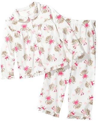 Carter's ballerina monkey microfleece pajama set - girls