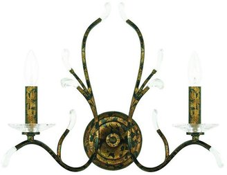 Livex Lighting Serafina 2-Light Venetian Golden Bronze Wall Sconce