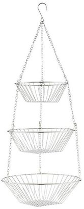 Container Store 3-Tier Hanging Basket Chrome