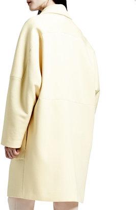 Stella McCartney Exaggerated-Lapel Two-Button Coat, Chamomile