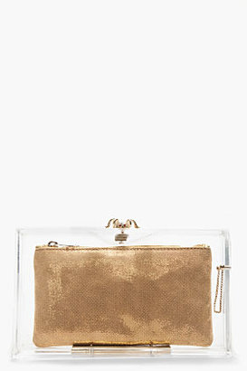 Charlotte Olympia Transparent Perspex Spider 3-Pouch Box Clutch