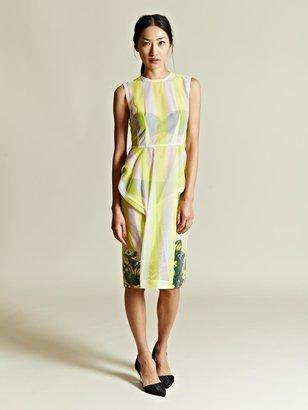 Toga Women's Stripe Pattern Bead Print Dress