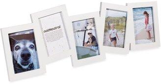notNeutral Sidekick 5-Opening Collage Frame - White