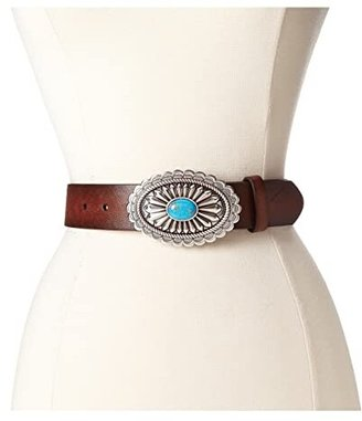 Ariat Oval Concho Buckle Belt (Brown) Women's Belts