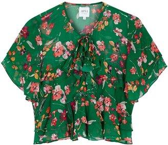 MISA Raziela Floral-print Chiffon Top