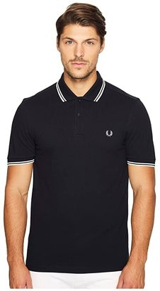 Fred Perry Twin Tipped Shirt (Port) Men's Short Sleeve Knit
