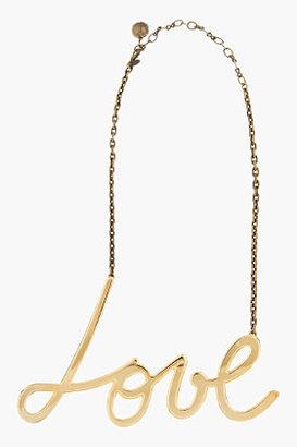 Lanvin Gold Love Necklace