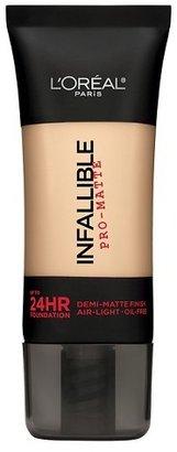 L'Oréal® Paris Infallible Matte Foundation $9.79 thestylecure.com