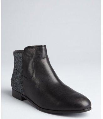 Rebecca Minkoff black leather 'Refine' glitter ankle boots