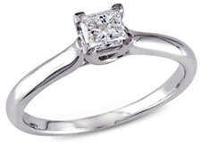 CONCERTO Princess-Cut Diamond 14K White Gold Solitaire Ring