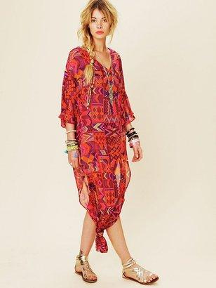 Mara Hoffman Long Chiffon Poncho Dress