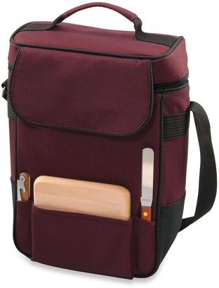 Picnic Time Duet Insulated Wine and Cheese Tote in Burgundy