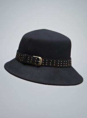 Scala Felt Studded Buckle Hat