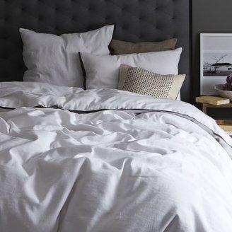 west elm Linen Cotton Duvet Cover + Shams - White