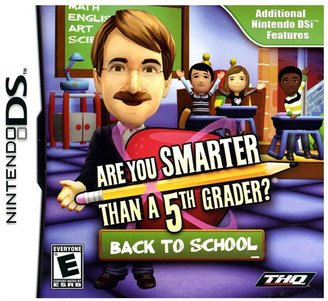 Nintendo Are you smarter than a 5th grader: back 2 school for ds