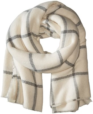 Hat Attack - Windowpane Scarf Scarves $70 thestylecure.com