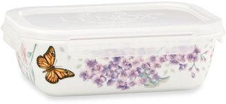 Lenox Butterfly Meadow® 7.75-Inch Rectangular Serve & Store Container with Lid