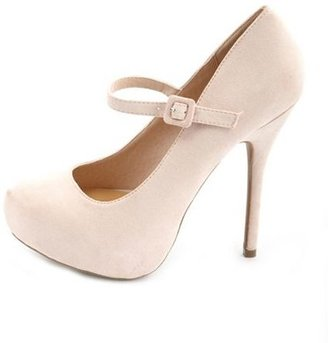 Charlotte Russe Sueded Mary Jane Platform Pump
