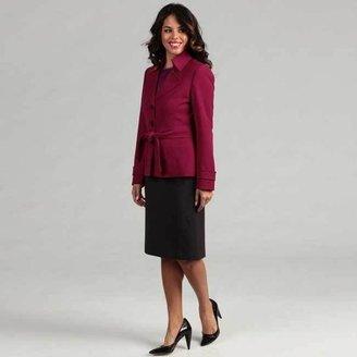 Tahari Women's Magenta Trench Jacket Skirt Suit $52.49 thestylecure.com