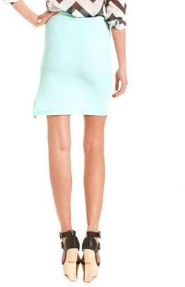 Charlotte Russe Textured Side Slit Pencil Skirt