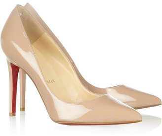 Christian Louboutin Pigalle 100 patent-leather pumps