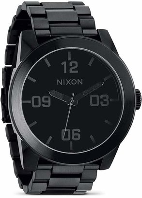 Nixon The Corporal Stainless Steel All Black Watch, 48mm $200 thestylecure.com