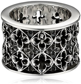 King Baby Wide Relic Band Sterling Silver Ring, Size 7 $315 thestylecure.com