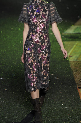 Marc Jacobs Sequin-embellished guipure lace dress